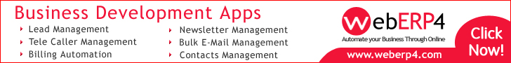 Business Development Systems, Business Development Software, Business Development Application, Business Development Modules from WebERP4