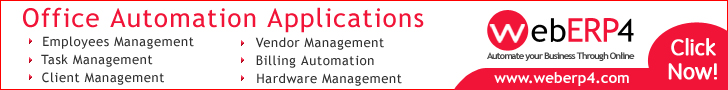 Office Automation Systems, Office Automation Software, Office Automation Application, Office Automation Modules from WebERP4